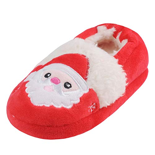 Childrens Christmas Slippers - Annnowl Toddler Boys Girls Santa Claus