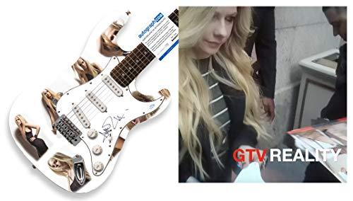 Avril Lavigne Autograph Signed Custom Guitar Exact Proof ACOA