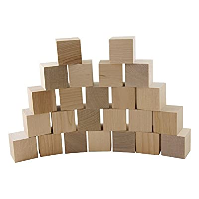 """Wooden Cubes - 1.5"""" Inch - Baby Wood Square Blocks - For Puzzle Making, Crafts, And DIY Projects - by Woodpecker Crafts from Woodpeckers"""