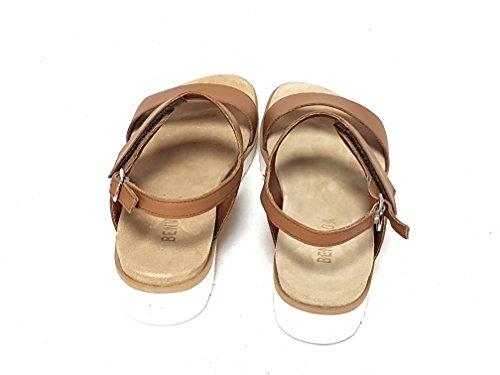 BENVADO - Sandalias de vestir de Piel para mujer marrón cuero
