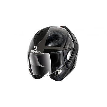 EVOline de tiburón Pro carbono DT motocicleta cascos, color negro, tamaño XS