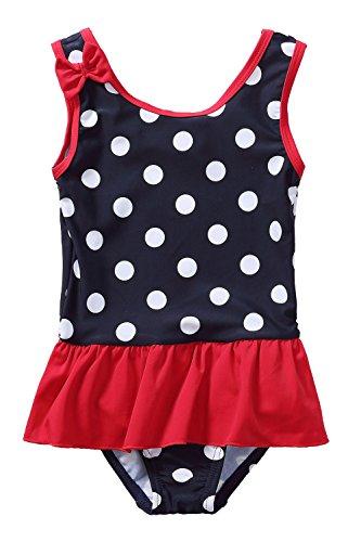 CharmLeaks Infant Polka Dot One Piece Peplum Swimwear Skirt Ruffle Baby Girls' Bathing Suits Swimwear (Baby Skirt Pattern)