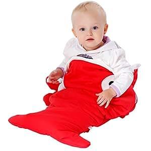 Scheppend Infant Cartoon Shark Sleeping Bag Stroller Blanket Cotton Warm Winter Sleep Sack Baby Anti-kicking Wearable Blankets for 0-36 Months Boys Girls