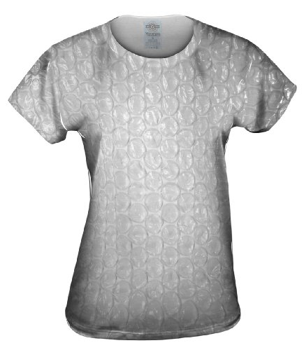 Yizzam- Bubble Wrap- Womens Top Shirt TShirt-Large