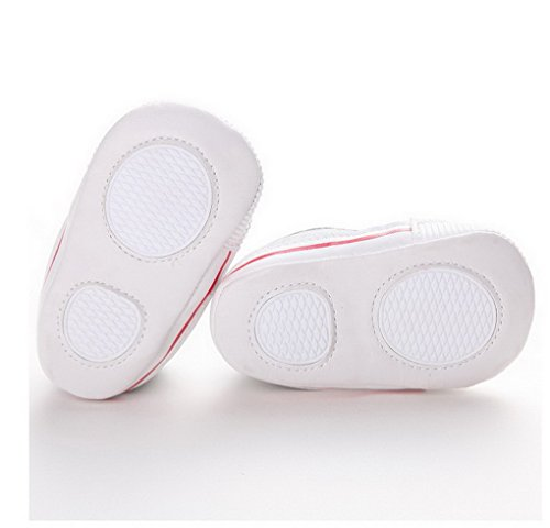 ACMEDE Baby Mädchen Taufschuhe Lauflernschuhe weiche Sohle Schuhe Sneaker Rot