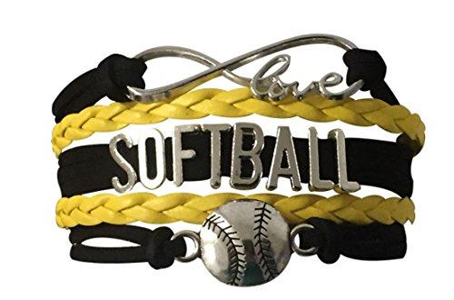Infinity Collection Softball Bracelet- Softball Bracelet- Softball Jewelry for Softball, Softball Mom or Softball Team
