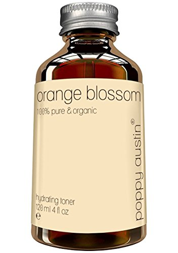 Poppy Austin Pure Orange Blossom Water Toner for Face and Skin - Vegan, Cruelty-Free and Organic, 4 oz