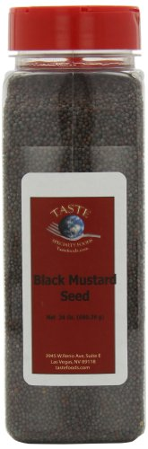 Taste Specialty Foods, Black Mustard Seeds, 24-Ounce Jars (Pack of 2)