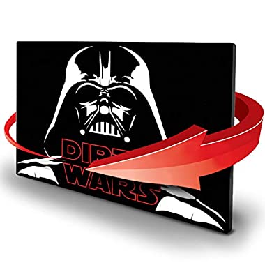 Double Sided Dishwasher Magnet - Clean Dirty Reversible Flexible Flip 3x4 inch Flipside Star Wars Cute Design Perfect Kitchen Addition Premium Flip Sign Indicator