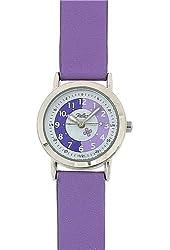Reflex Time Teacher White Dial Quartz Kids Lilac Pu Strap Watch 105014CC