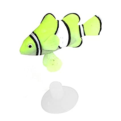Amazon.com: eDealMax Pecera de silicona acuario submarino flotante Pez payaso decoración Verde: Pet Supplies
