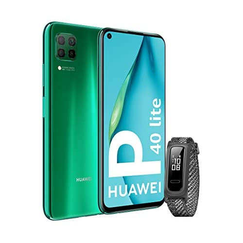 chollos oferta descuentos barato HUAWEI P40 Lite Smartphone 6 4 Kirin 810 6GB RAM 128GB ROM Cuádruple cámara Batería de 4200mAh Verde Band 4e Gris Sin servicios de Google preinstalados Versión ES PT