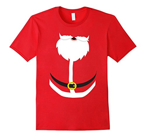 Inexpensive Last Minute Halloween Costumes (Mens Last Minute Santa Halloween Costume T-Shirt for Chrismas 3XL Red)