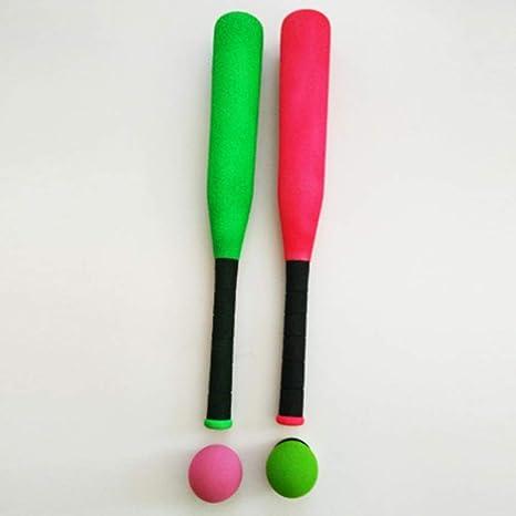 Garneck 1 Juego de Juguetes de Bate de B/éisbol de Espuma para Ni/ños Palo de B/éisbol para Ni/ños Deportes Al Aire Libre Color Aleatorio