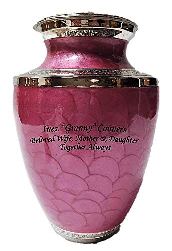 NWA Adult Brass Funeral Cremation Urn, Human Ash Container with Customized - Urn Adult Brass