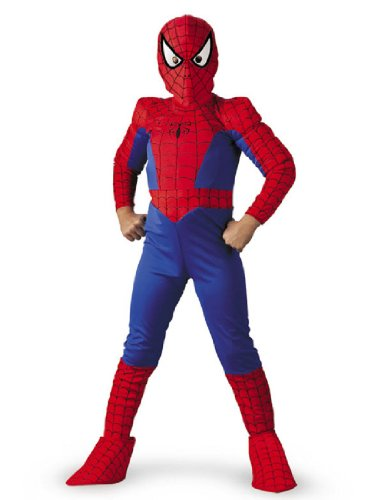 Ultimate Spiderman Muscle Kids Costumes (Ultimate Spiderman Boys Large Deluxe Costume)