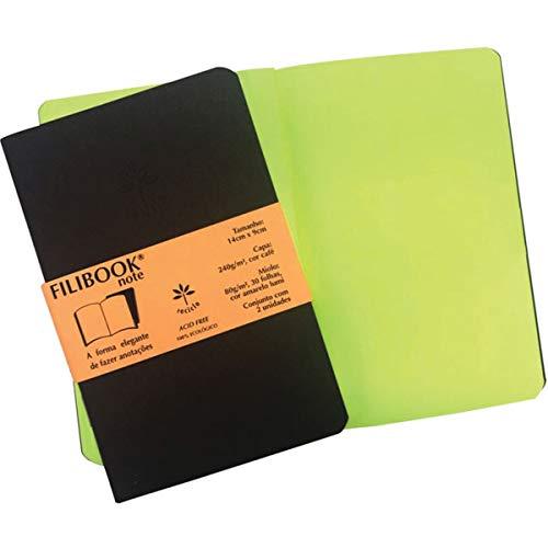 Caderneta Filibook 30 Folhas  14x9 Café/Amarelo - Pacote com 2, Filiperson, 3955, Multicor, pacote de 210
