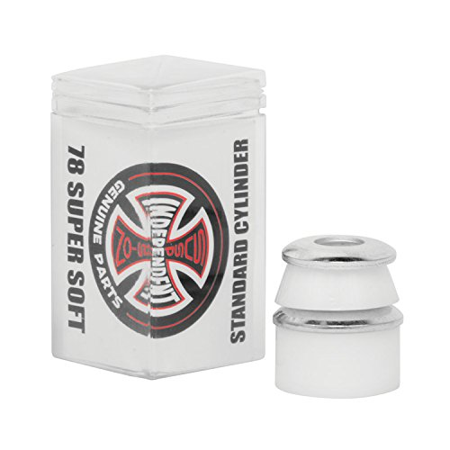 Independent Standard Cylinder Cushions White Skateboard Bushings - 2 Pair with Washers - 78a (Cushion Washer)