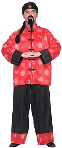 Chinese Man Costume Amazon (Forum Novelties Men's Chinese Gentleman Costume, Multi, One Size)