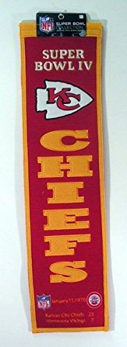 NFL Kansas City Chiefs Super Bowl IV Banner