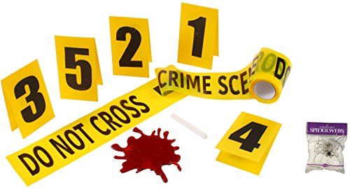 [Bundle: 2 Items - Crime Scene Kit and Free Spider Web] (Crime Scene Decorations)