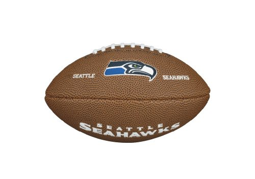 Wilson American Football NFL TEAM LOGO MINI SEATTLE SEAHAWKS, Rotbraun, 1, WTF1533XBSE