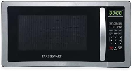 Farberware Professional 1.1 Cubic Foot Microwave Oven in Stainless Steel/Black