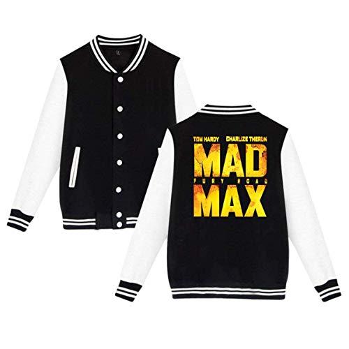 Mad Max Fury Road Mens & Womens Vintage Hoodie Baseball Uniform Jacket Sport Coat Black ()