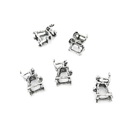 290 Pieces Antique Silver Fashion Jewelry Making Charms Findings ABEX0 Umpire Chair Supplies Craft Vintage Bulk Retro DIY Lots Repair Jewellery ()