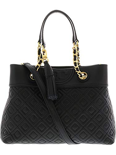 Tory Burch Women's Fleming Small Tote, Black, One Size