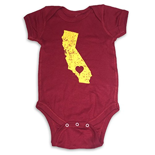 Sol Baby California Love Trojan Themed Cardinal Onesie-12m-Red (Usc Trojan Baby)