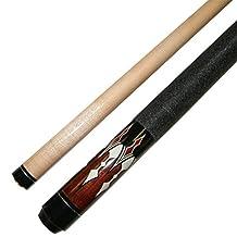 "Iszy Billiards BND-02-42""-16 Short 42-Inch 2 Piece Hardwood Maple Pool Cue Billiard Stick, 16 oz, Brown"