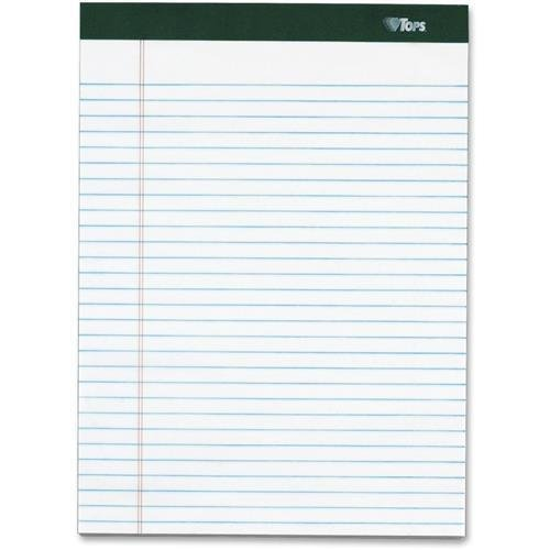 99612 TOPS Double Docket Legal Pad, Narrow Rule, White, 100 SH/PD, 4 PD/PK - 100 Sheets - 16 lb Basis Weight - 8.50'' x 11.75'' - 4 / Pad - White Paper
