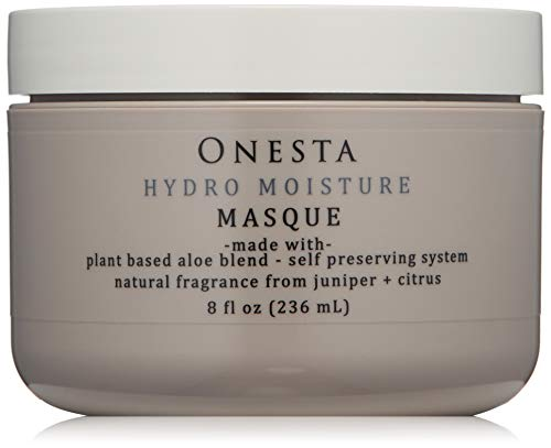 Onesta Hair Care Hydro Moisture Masque, 8 oz, with Aloe Juice, Avocado Butter - Intense Hydration Mask for Dry, Damaged Hair