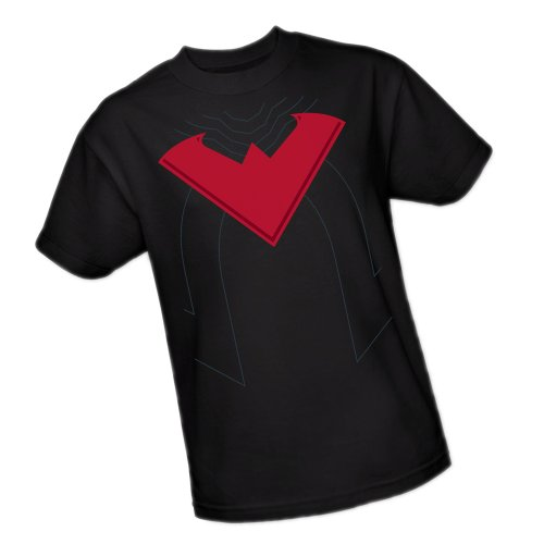Nightwing Costume -- The New 52 -- Batman Adult T-Shirt, Medium