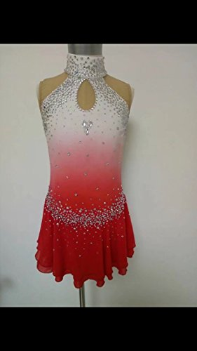 Fashion Custom Figure Skating Dresses Girls Ice Skating Competition Dresses With Crystals A2271