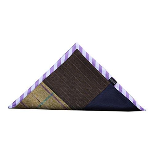 (Reversible Striped Pocket Square)