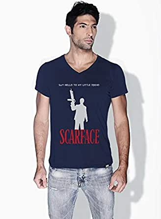 Creo Scarface Movie Posters T-Shirts For Men - L, Blue