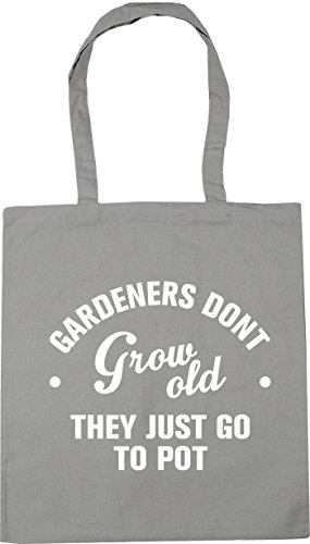 Light don't Shopping Tote go litres 42cm Beach HippoWarehouse 10 Gardeners pot they just old x38cm grow Gym Bag Grey to pAAwUxgq