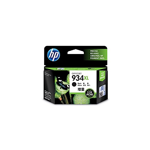 HP 934XL (C2P23AE BGX) High Yield Black Original Ink Cartridge - Cartucho de tinta para impresoras (Negro, Alto, Officejet...