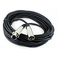 CBI MLC LowZ XLR macho a XLR Cable de micrófono hembra, 20 pies