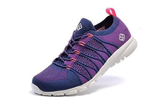 senximaoyi Spring, summer, wear-resisting breathable light shoes,Purple,8.5 by senximaoyi