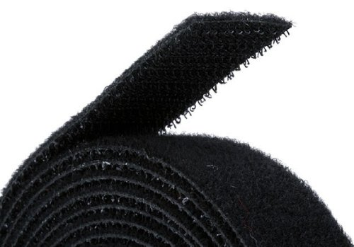 Fastening Tape 0.75-inch Hook & Loop Fastening Tape 5 yard/roll - Black