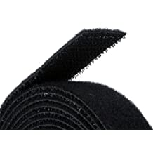 Monoprice 105828 0.75-Inch One Wrap Hook and Loop Fastening Tape, 5 Yard/Roll, Black