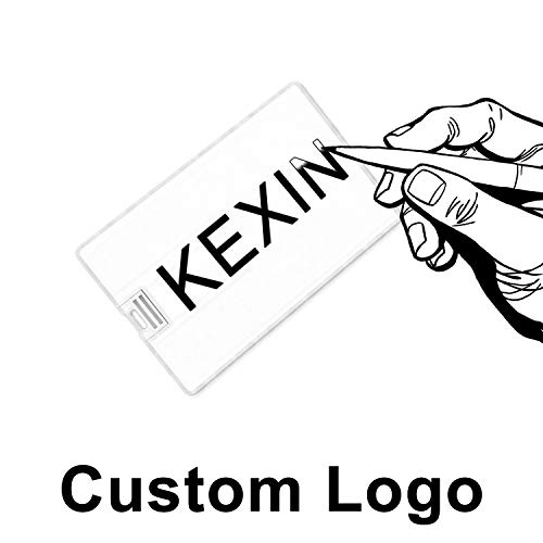 Custom Logo USB Flash Drives Credit Card Bank Card Shape Logo Personalized Flash Drive Thumb Drive Memory Stick Key Credit USB Drive - Bulk Flash Drives, White Card(1 GB, 50 Pieces)