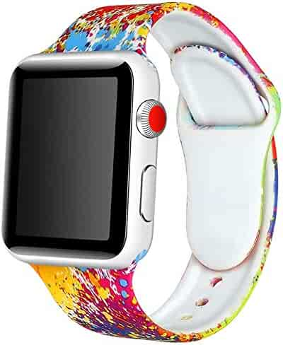 Watch Band 38mm 42mm 40mm 44mm Soft Silicone Replacement Wristband for iWatch Series 4 3 2 1 Nike