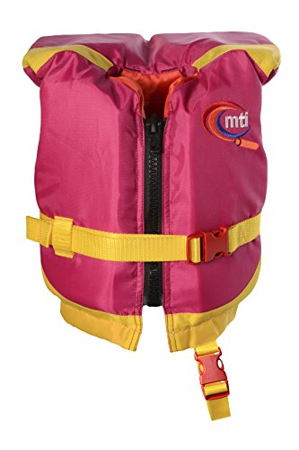 MTI Adventurewear Girls Infant with Collar Type II PFD Life Jacket, Berry/Yellow, 0-30 lb. (Type Ii Infant Pfd)