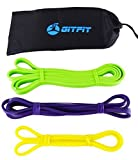 GITFIT 3-Pack Exercise Bands with Travel Bag to Increase Physical Fitness with Portable Ease at Home or the Gym