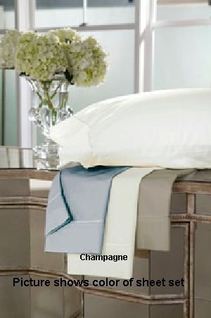 DreamFit 4-Degree 400 Thread Count Preferred 100-Percent Egyptian Cotton Sheet Set, California King, Champagne