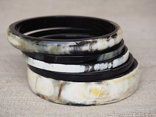 Natural Buffalo Horn Material Bracelet Set Jewelry ()